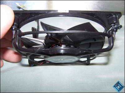 Side view of 'L' series fans showing optimised blades