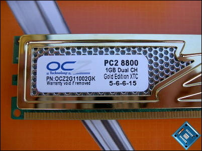 OCZ Gold PC2-8800 XTC Specs