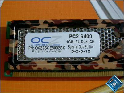 OCZ PC2-6400 Special Ops Specifications