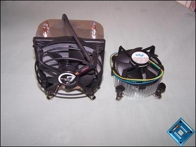 Freezer 7 Pro vs Intel reference cooler