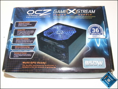 OCZ GameXStream 850w Box Top