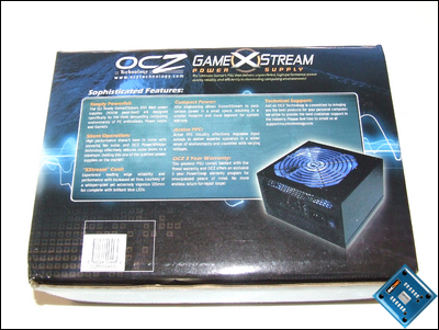 OCZ GameXStream 850w Box Back