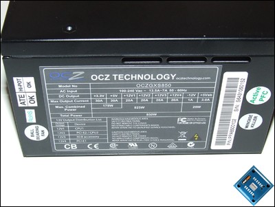 OCZ GameXStream 850w Side