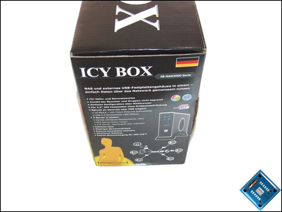 Icy Box NAS Packaging