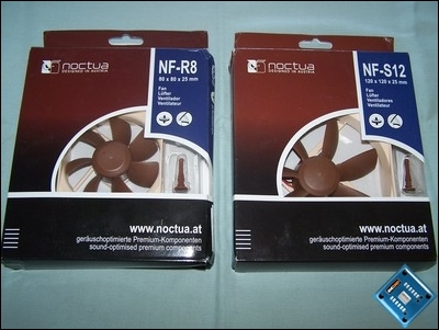 Noctua NF-R8 and NF-S12 fans