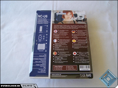 NC-U6 Rear of packaging