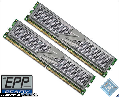 OCZ DDR2 PC2-6400 Titanium EPP-Ready Dual Channel