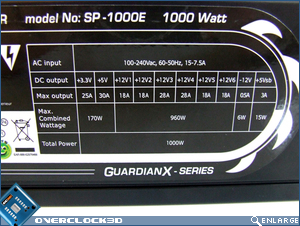 Silver Power GuardianX 1000w Specs
