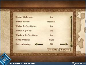 oblivion in game settings