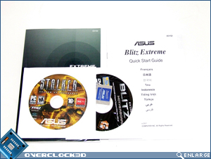 Asus Blitz Extreme CD & Manual