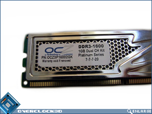 OCZ Platinum PC3-12800 Single Sided