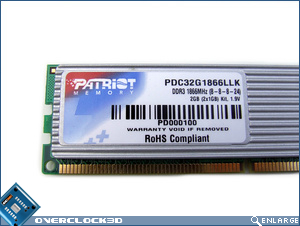 Patriot PDC32F1866LLK Specifications Sticker