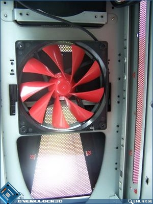 Top mounted exhaust fan
