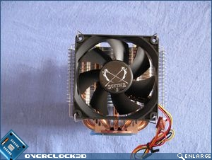Front view with attached fan
