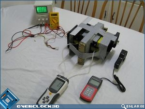 Test chamber setup