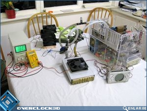 Cooling test setup