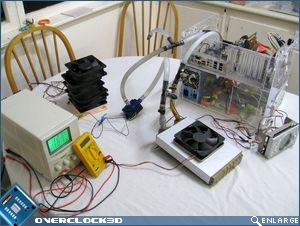 Cooling test bench