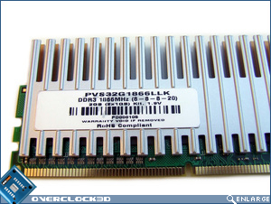 Patriot PVS32G1866LLK PC3-1500 Specs Sticker