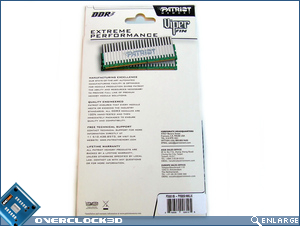 Patriot PVS32G1866LLK Viper Series Box Back
