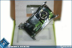XFX 8800 GTS inside packaging