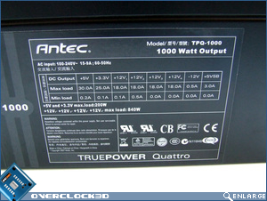 Antec Truepower Quattro 1000w Side