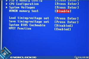 BIOS memory testing
