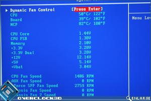 BIOS fan control