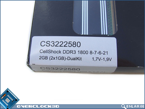 Cellshock PC3-14400 DDR3 Specs