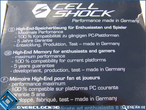 Cellshock PC3-14400 Specs