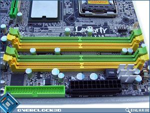 DFI Lanparty LT X38-T2R Memory Slots