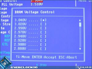 X38-T2R DRAM Voltage