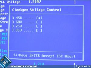 X38-T2R Clockgen Voltage