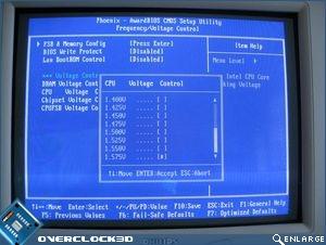 CPU Voltage control