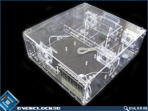 Top view of HTPC chassis