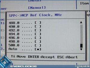 Asus Striker II Extreme MCP Clock