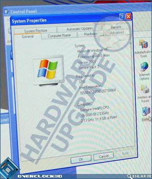 Nehalem image showing system info