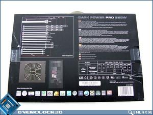 Ne Quiet! Dark Power Pro 650w Box Back
