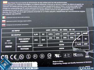 Be Quiet! Dark Power Pro 650w Specs
