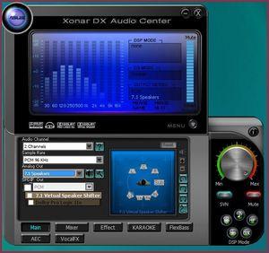 Asus Xonar DX Main Screen