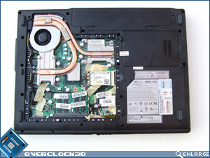 MSI GX600 Underneath Open