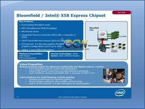 Bllomfield/X58 specifications