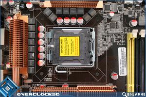 Asus P5Q Deluxe CPU Area