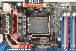MSI P45 Diamond CPU Area