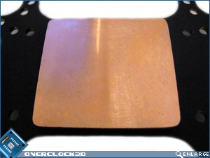 Stealth copper base close-up