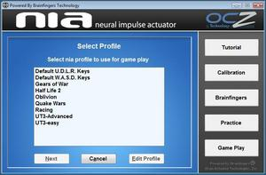 OCZ NIA Key Bindings