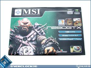 MSI N280GTX Box