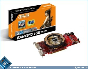 ASUS 4850 box and card