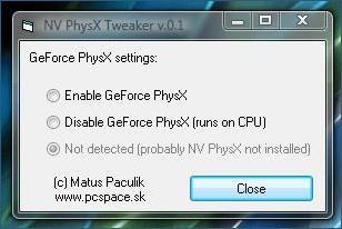 NV PhysX Tweaker