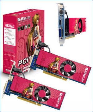 Albatron PCI based GeFore 8's