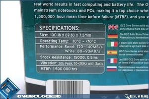OCZ Core SSD Box Specs